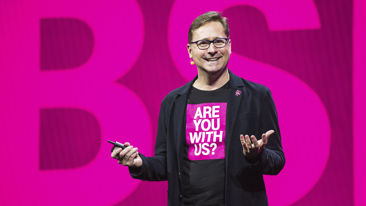 All on board? After eight years at T-Mobile, Mike Sievert took the top job in April 2020.  (Source: T-Mobile)