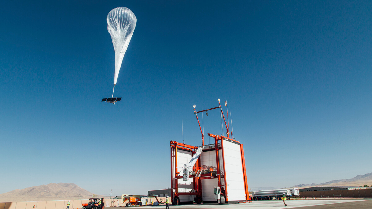 Controlled descent: Loon's internet enabled balloons have been called back to base as the project goes pop. (Source: Loon)