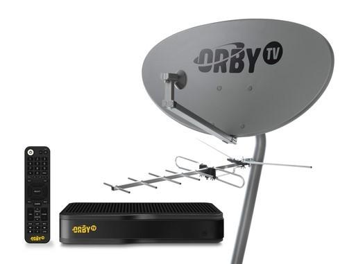 The full OrbyTV set-up.