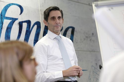 Telefonica's CEO oversees a shrinking and heavily indebted business.