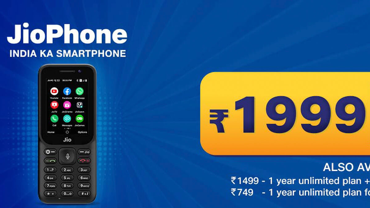 Time for an upgrade: Jio's current low-cost model, a 4G feature phone called Jio phone, is aimed at pulling in rival's 2G customers.  (Source: Jio)