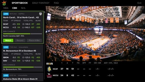 Dish satellite TV customers with Hopper boxes can use the integrated  DraftKings app to view betting odds and fantasy contests, and initiate bets or contest entries with DraftKings directly from their TV. 