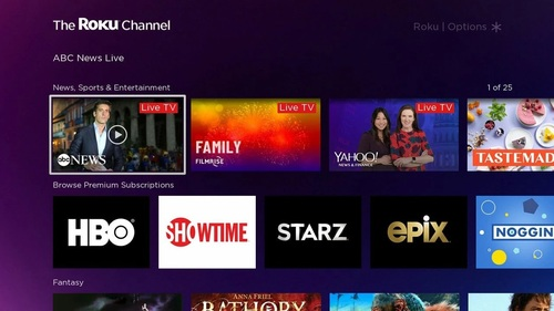 Nathanson estimates that The Roku Channel may already contribute at least 65% of Roku's video ad revenues today.   (Image source: Roku Channel Store)