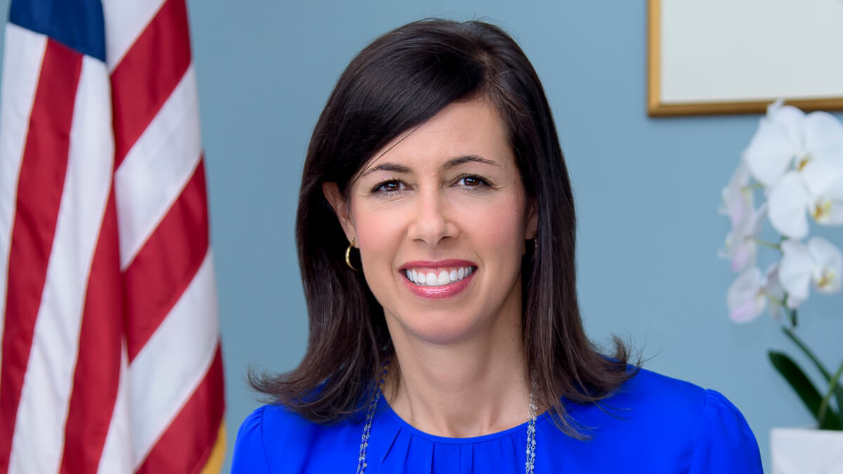 Change at the top: Federal Communications Commission acting chairwoman Jessica Rosenworcel, the US attorney picked in January by President Biden for the role.  (Source: FCC)