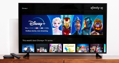 Integrations of Disney+ and ESPN+ bring two key streaming services to Comcast's platforms for pay-TV and broadband-only customers.  (Image source: Comcast)