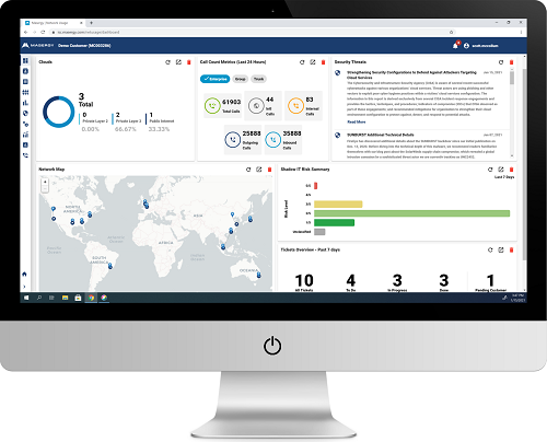 Click here for a larger version of this image of Masergy's customer dashboard. (Source: Masergy)