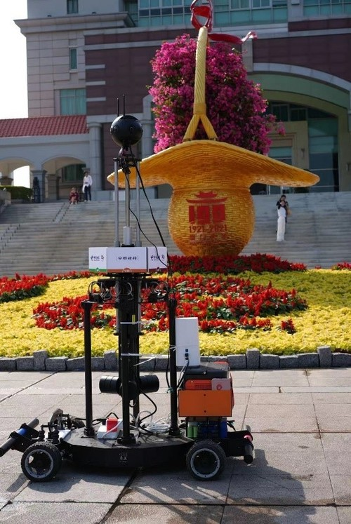 Broadcast with panoramic robots in the university campuses.