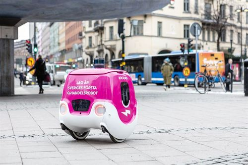 Not-so-fast food: Doora will trundle along at 6km/h. (Source: Tele2)