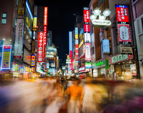 Downtown Tokyo is what tech lovers pray the afterlife is like.
