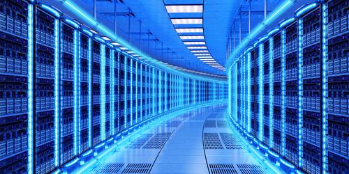 Inside an AWS data center.