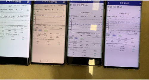 Concurrent speed tests on four devices in the hospital