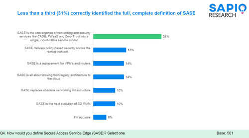 View a larger version of this image here. Survey respondents included 501 IT security and IT networks professionals; the survey was conducted by Sapio Research in May 2021.