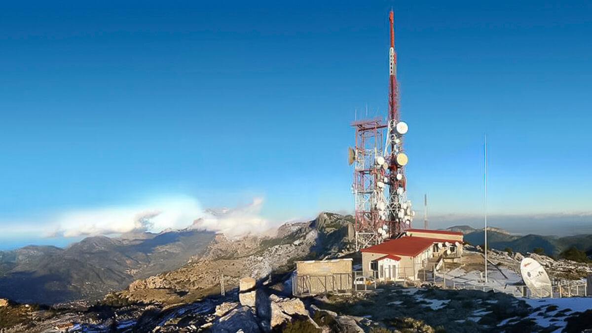 Towering advantage: Spanish towerco Cellnex now operates around 129,000 sites across Europe - including this one in Mallorca.  (Source: Cellnex)