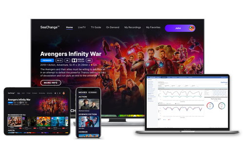 SeaChange says StreamVid supports most major streaming platforms and ties in the company's data analytics engine and advanced advertising technology.   (Image source: SeaChange)