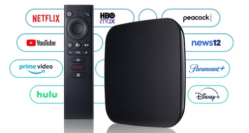 Altice USA is offering its new Android TV-powered 'Stream' device in its Optimum and Suddenlink service areas.   (Source: Altice USA)