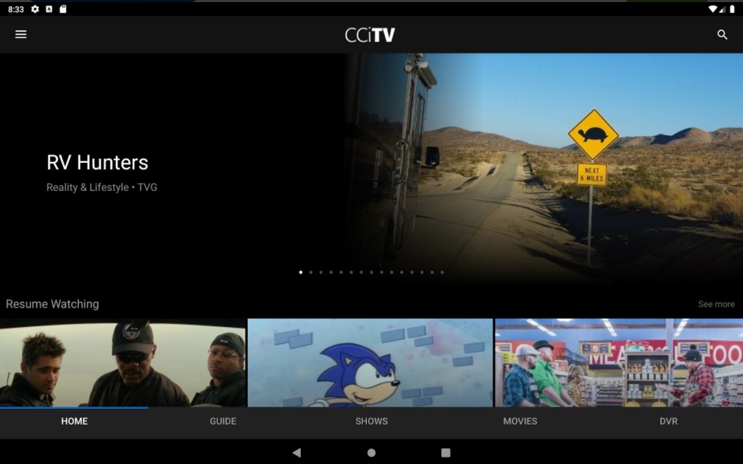 Consolidated launched the app-based CCiTV service in 2019 in partnership with MobiTV, the video tech and software company that is now part of TiVo.   (Image source: Google Play)
