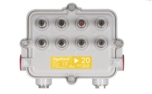 Ahead of the availability of 1.8GHz amplifier technology, suppliers such as ATX are advocating that operators start to seed their network with new taps and passives that will be needed for the jump to DOCSIS 4.0. Pictured is ATX's 2GHz GigaXtend Hardline MultiPort Tap.  (Image source: ATX Networks)
