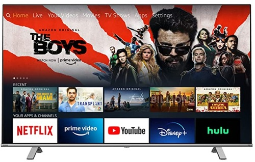 A Toshiba-made Fire TV Edition TV. At last check, this 43-inch, 4K-capable model sells $349.99.  (Source: Amazon)