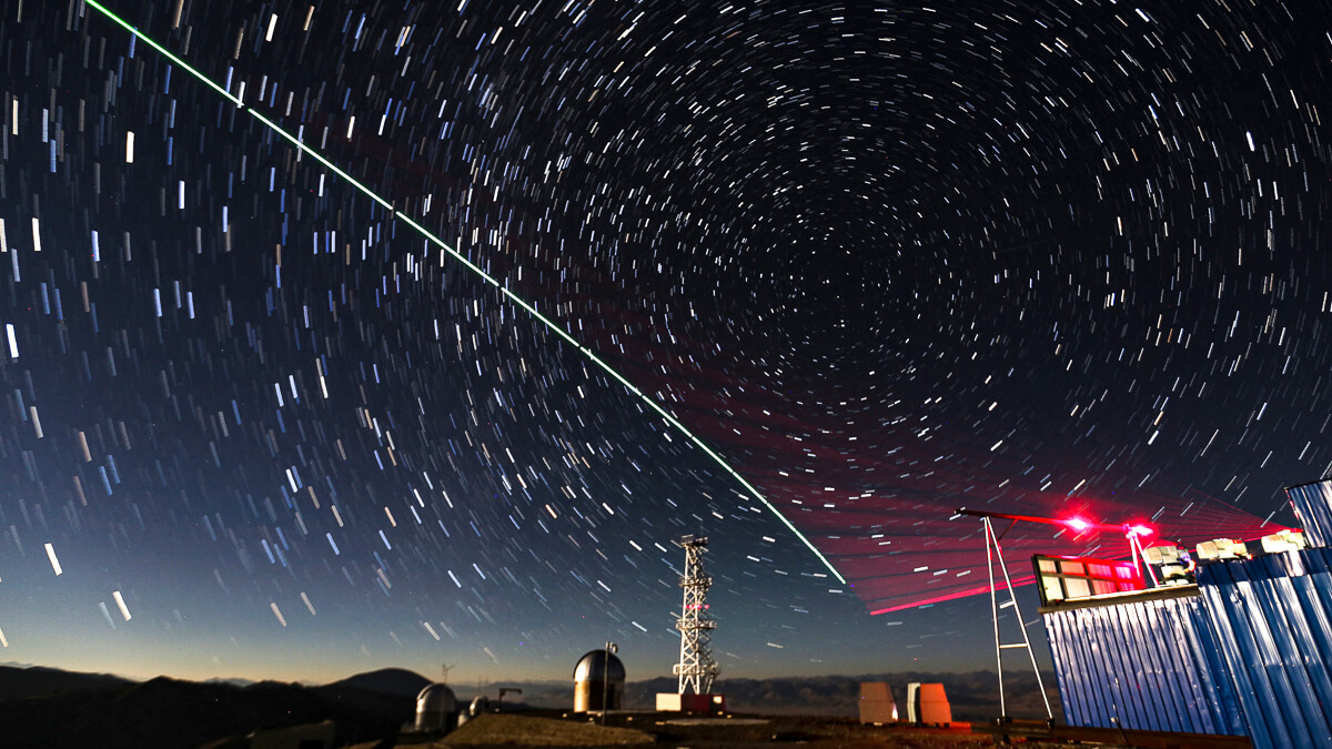 Quantum leap: Satellite-to-earth link established between quantum satellite Micius and the quantum teleportation experiment platform in Ali, southwest China's Tibet Autonomous Region.  (Source: Xinhua/Alamy)