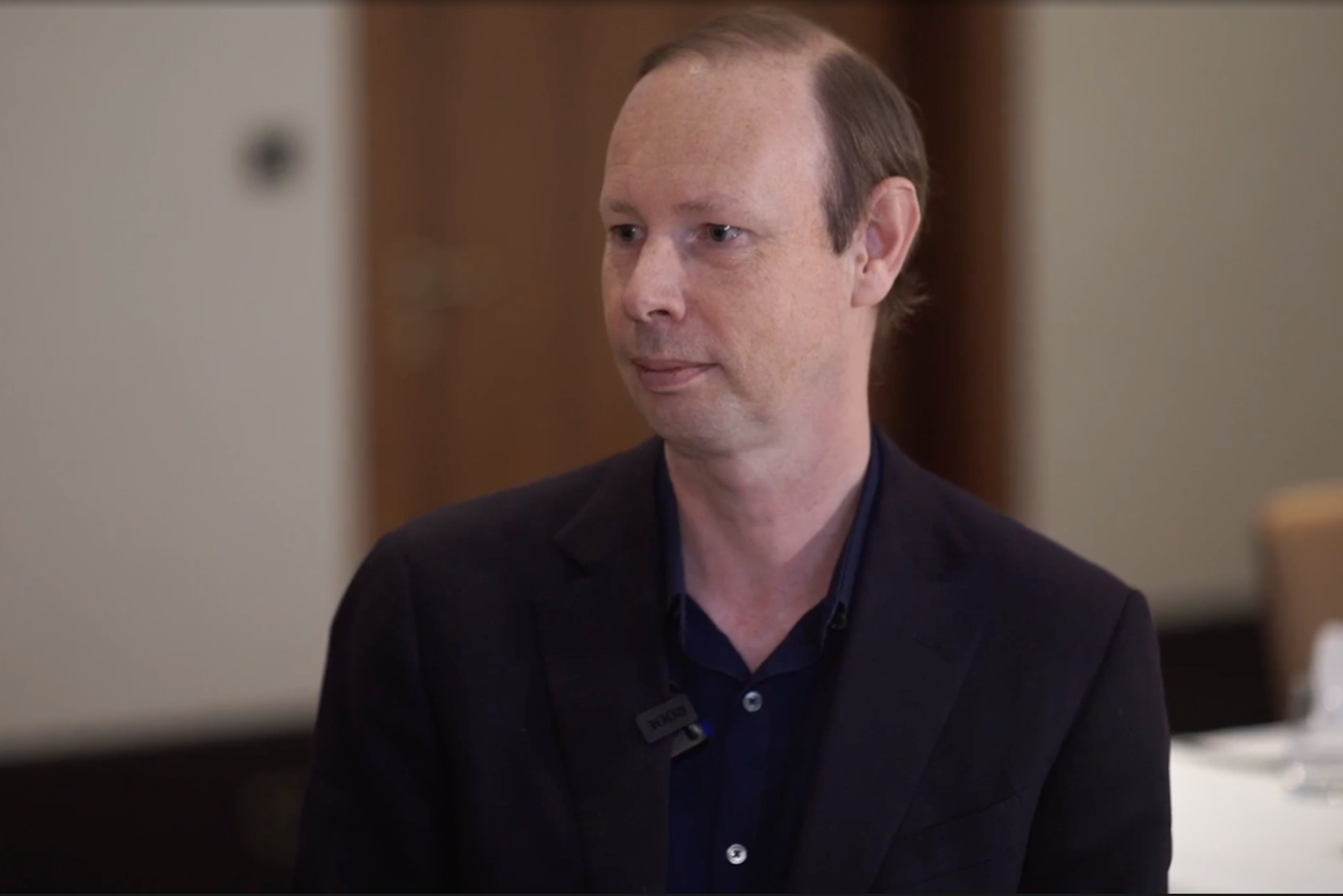 IBM's Andrew Coward, seen here in a video interview from 2018, when he was CEO of Lumina Networks. (Source: Light Reading)