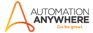 Automation Anywhere logo - robotic process automation leaders
