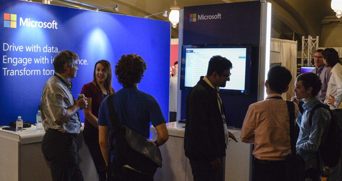 Microsoft's booth at last week's AI Summit SF
