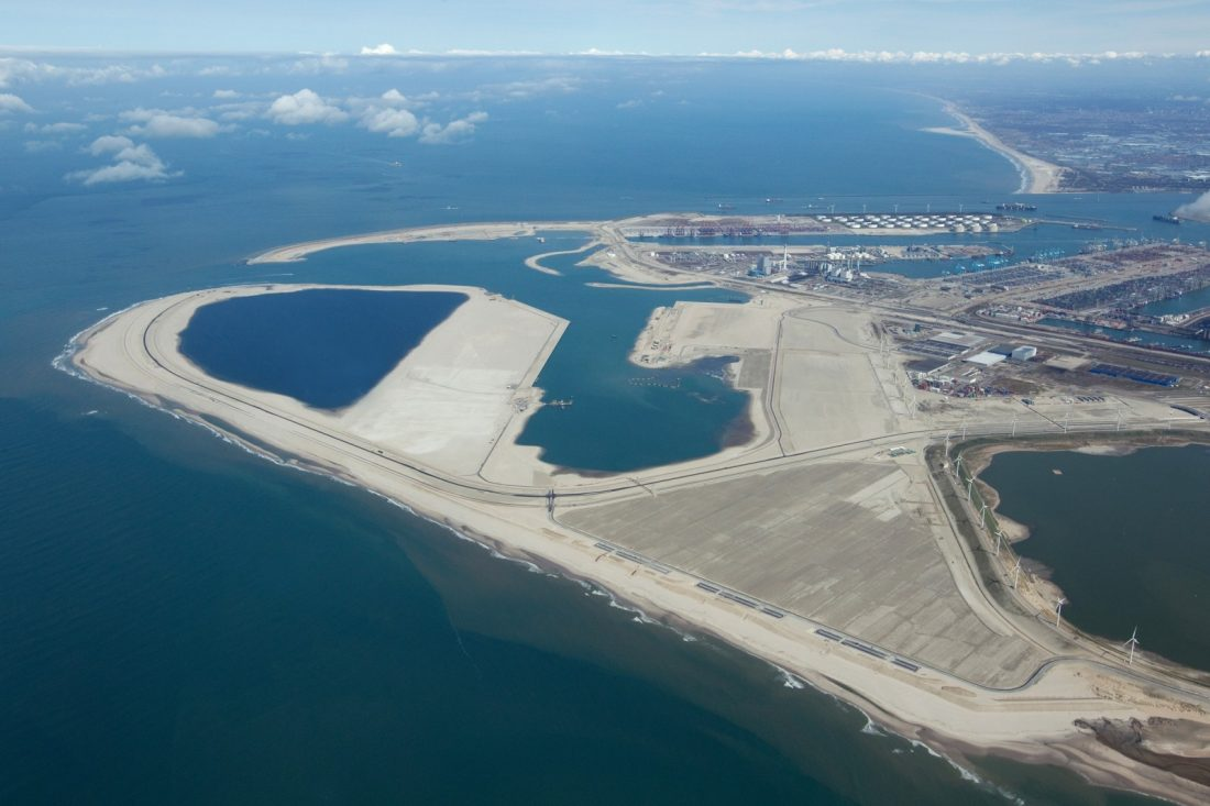 The Maasvlakte II shipyard in Rotterdam
