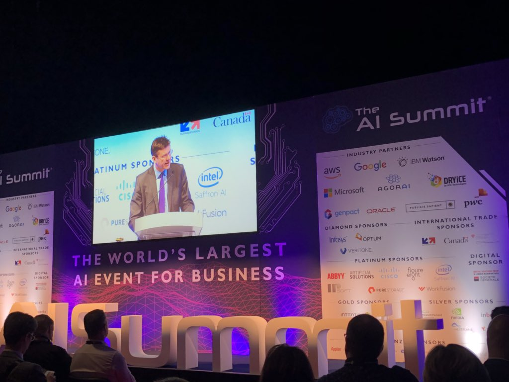 Greg Clark, Secretary of State for BEIS, speaking at The AI Summit London