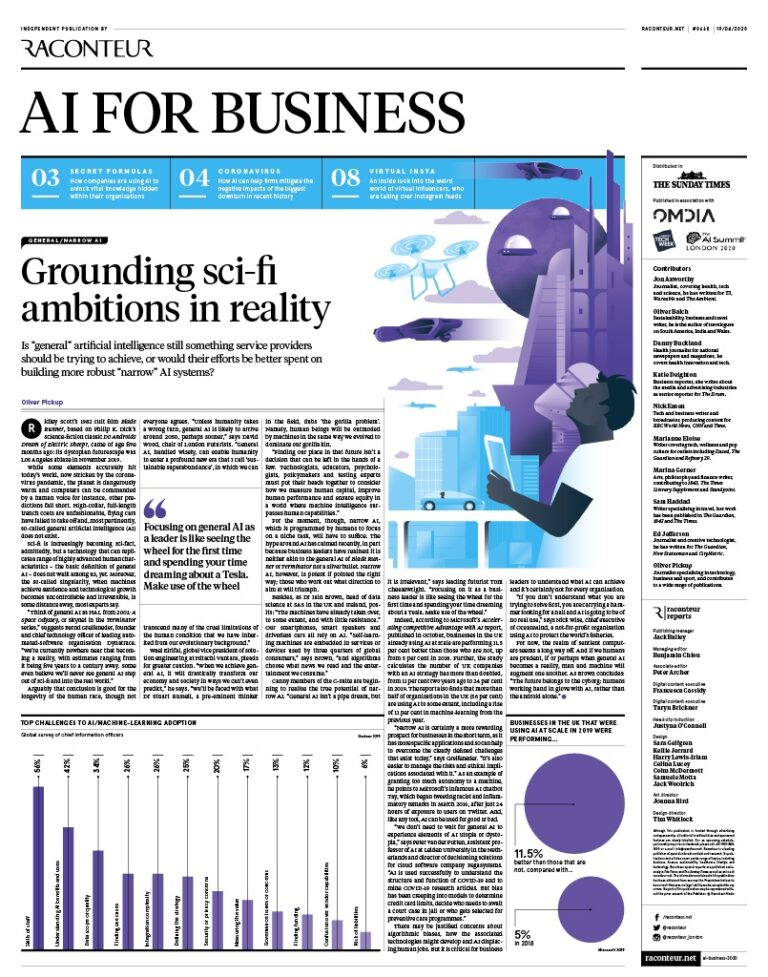 Raconteur AI Business supplement