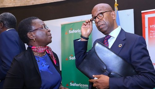 Safaricom CEO Bob Collymore (right) has plans to take e-commerce services into other African markets.