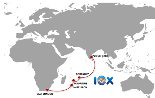 The planned IOX Cable System route.