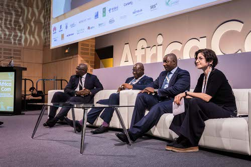Sofa so good: Discussions got lively during day one of AfricaCom in Cape Town.