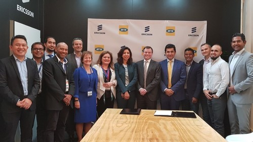 The Ericsson and MTN teams meet to plan their 5G cooperation at AfricaCom 2017.