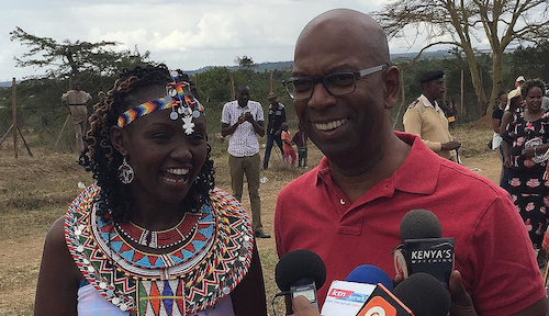 Bob Collymore, Safaricom's CEO, getting out and about in Kenya.