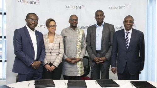 Left to right: Cellulant co-founder Bolaji Akinboro; Fiona Mungai, Endeavor Catalyst; Cellulant co-founder Ken Njoroge; Yemi Lalude, TPG; Dr. Samuel M. Kiruthu, Cellulant Chairman.