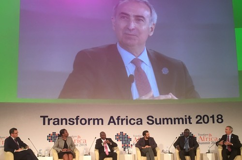Intelsat CEO Stephen Spengler in action at the recent Transform Africa Summit.