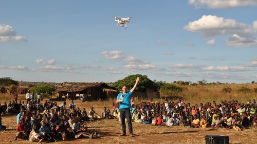 UNICEF staff are performing vital work with the aid of drones.