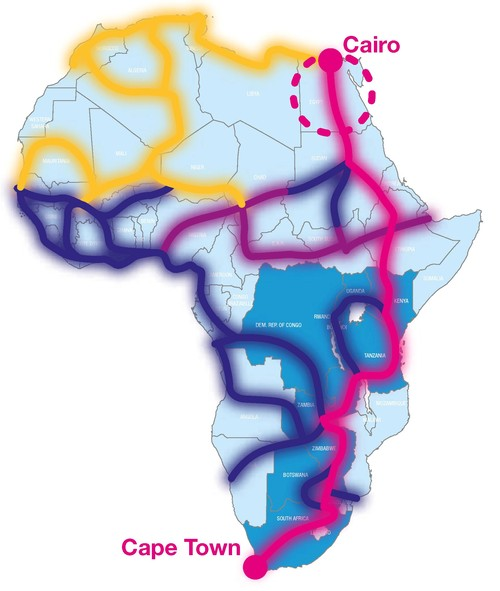 The One Africa network will run from Cairo to Cape Town and offers numerous interconnects to reach multiple markets.