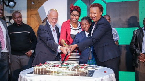 Former Safaricom CEO Michael Joseph, seen here on the left during the 'Safaricom at 18' celebration in October 2018, is stepping back into the role in an interim capacity.