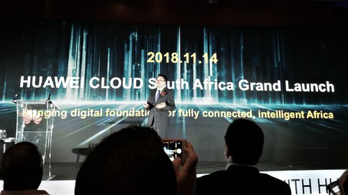 The launch of Huawei Cloud in South Africa.