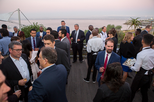 Awards attendees take in the amazing views in Cape Town ahead of the awards ceremony.