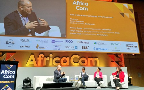 The blockchain panel at AfricaCom 2018.