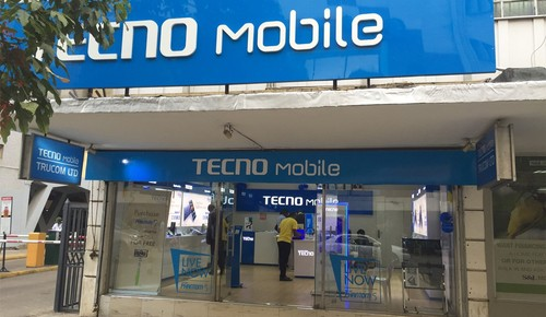A Tecno mobile phone store in Nairobi, Kenya.