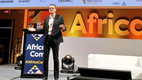 MTN CEO Rob Shuter at Africacom 2018.