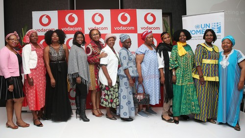 A group of women from the South African Women in Farming association and guest speakers from the Women Farmers Programme launch event in Johannesburg, South Africa.