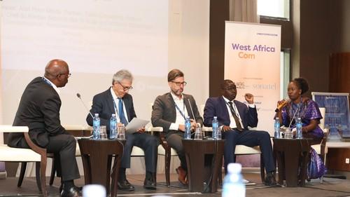 Senegalese government representative Racky Seye speaks on a panel exploring ways to close the digital skills gap.