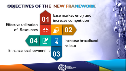 The UCC's aims for the new telecoms licencing framework.