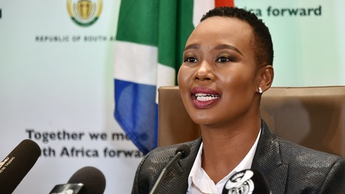 SA Minister of Communications and Digital Technologies, Stella Ndabeni-Abrahams, has been placed on special leave for two months. (Photo courtesy of GCIS)