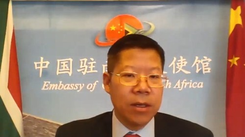 Li Nan, Charge d'Affaires of the Chinese embassy in South Africa.