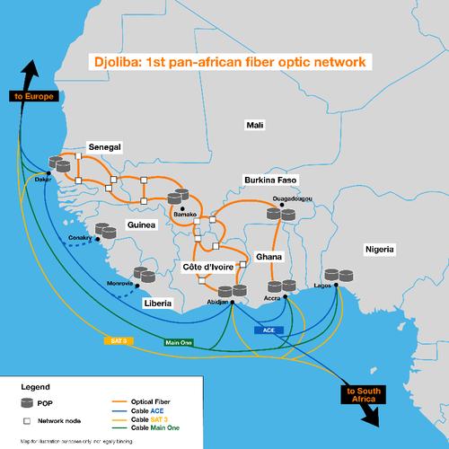 The Djoliba network  (Source: Orange)